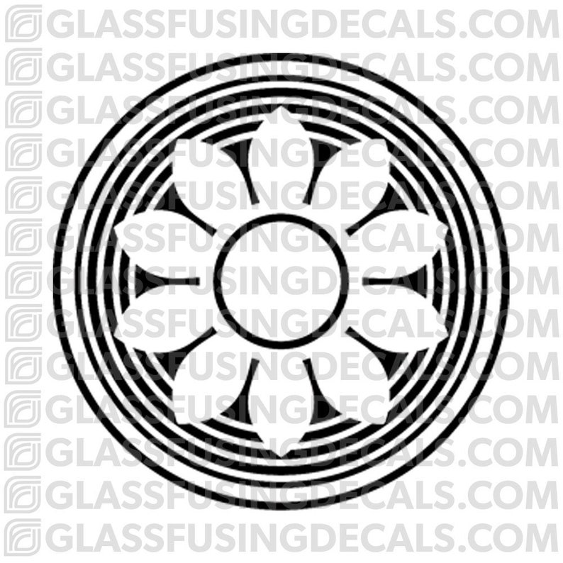 Sakura Wheel 12  Glass Fusing Decal for Glass Ceramics and image 0