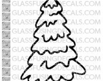 Evergreen 1 -  Glass Fusing Decal for Glass, Ceramics, and Enamelling