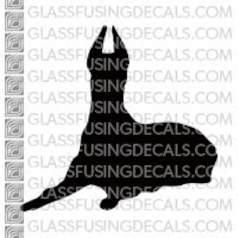 Dogs  Doberman Pinscher Glass Fusing Decal for Glass image 0