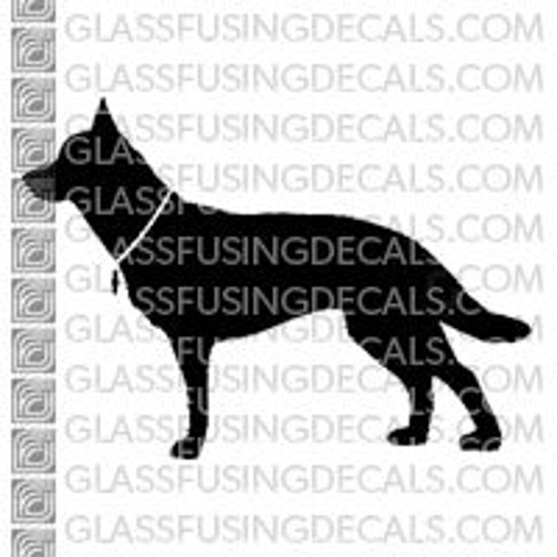 Dogs  Belgian Malinois Glass Fusing Decal for Glass image 0