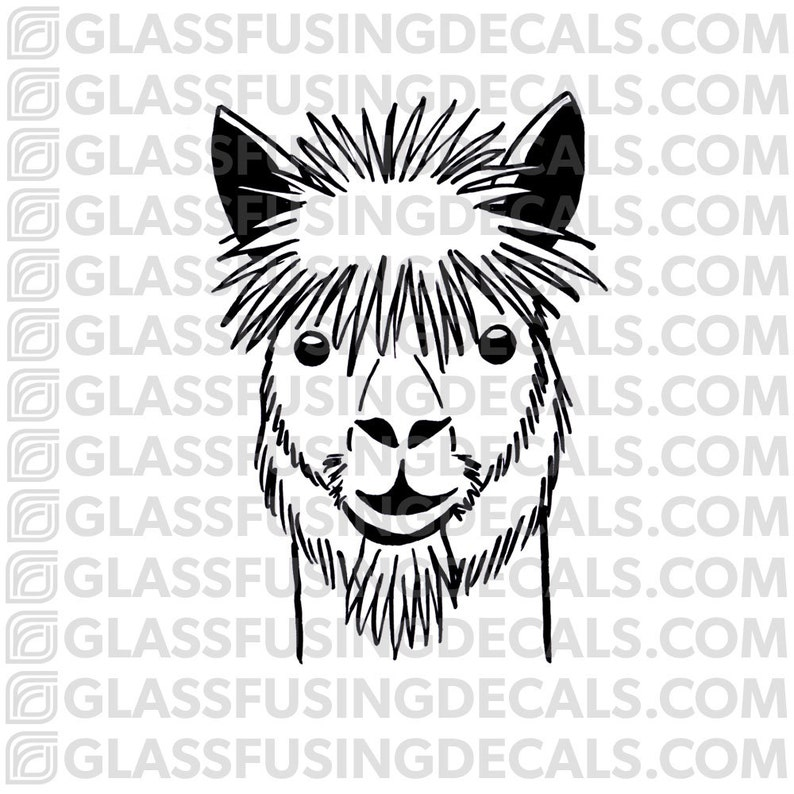 Alpaca Haircuts 3 Glass Fusing Decal for Glass or Ceramics image 0