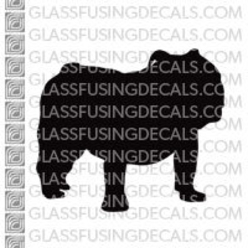 Dogs  Bulldog Glass Fusing Decal for Glass Enamelling or image 0