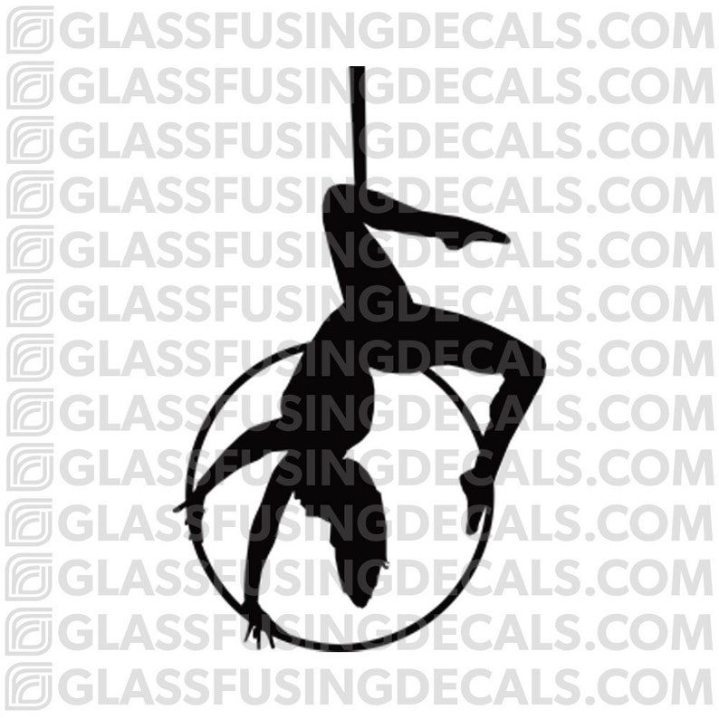 Aerials  Hoop 7 Glass Fusing Decal for Glass or Ceramics image 0