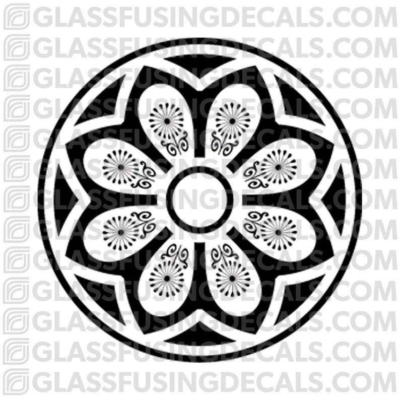 Sakura Wheel 10  Glass Fusing Decal for Glass Ceramics and image 0