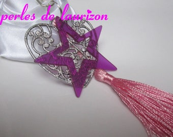 in the stars heart bag charm