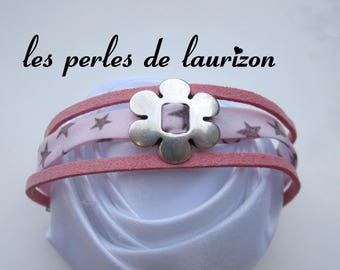 liberty bracelet pink flower and stars