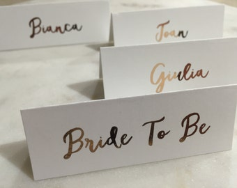 Wedding Place Cards - Foiled