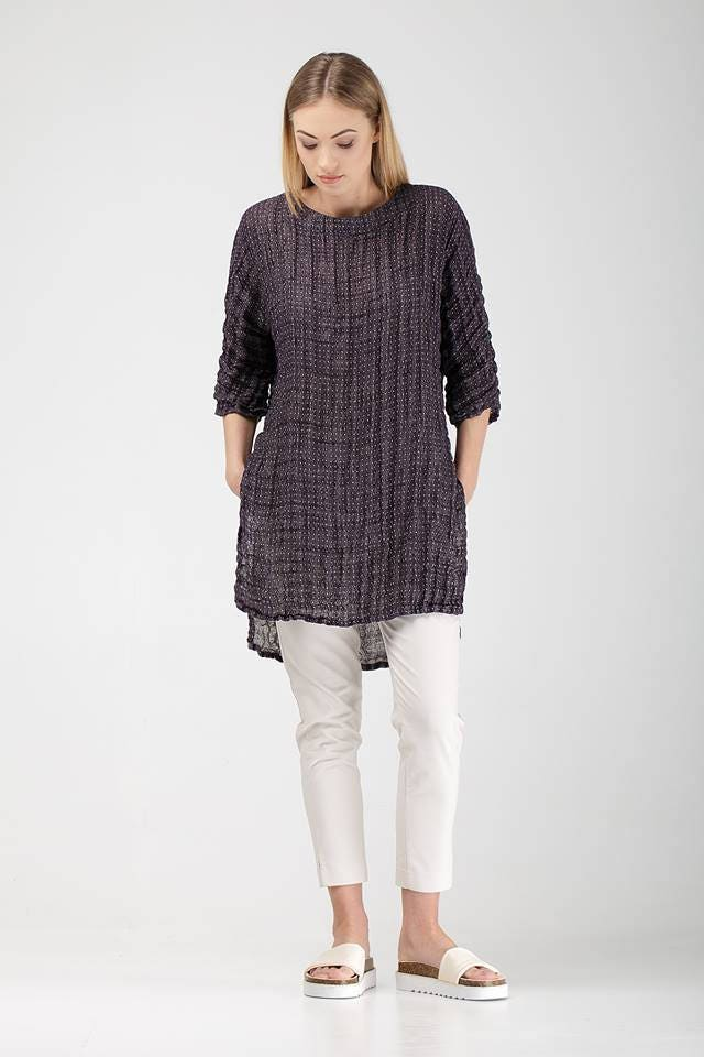 bb94740c040 Classic Linen Tunic For Women   Crumpled Linen Tunic With Side
