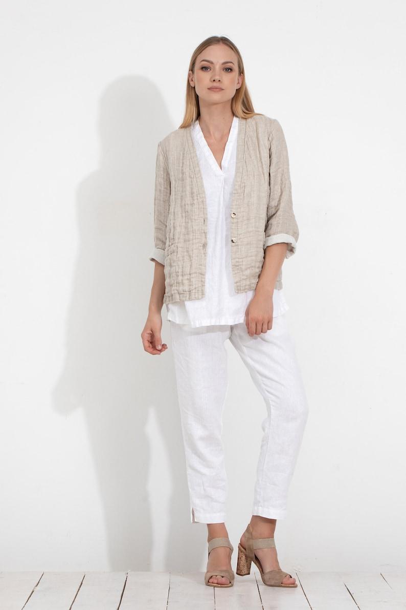 93666c4e866 Linen Blazer   Linen Jacket   Linen Cardigan   Flax Summer