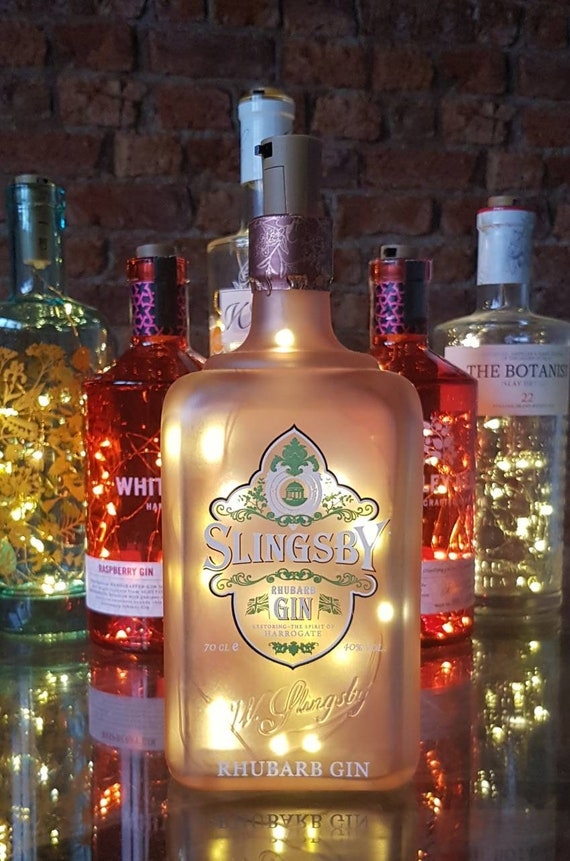 SLINGSBY GIN EMPTY SEE PHOTOS BOTTLE /'/' RHUBARB /'/' // 70cl  PERFECT