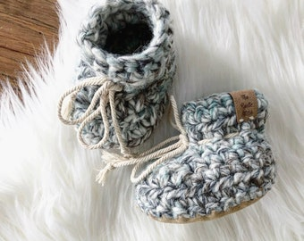 02ac32daf ᴡᴏᴏʟ ʙᴏᴏᴛɪᴇs  crochet booties