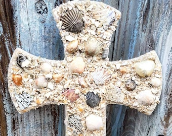 "12"" Sand Covered Cross"
