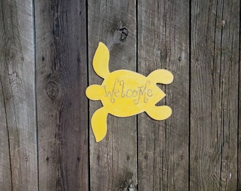 Welcome Turtle Wall Hanging