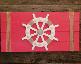 Ship Wheel Sign
