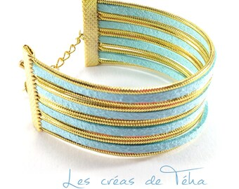 Very nice cuff Mint and gold