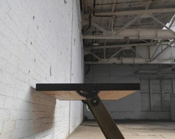 Vintage Inspired Industrial Table Desk U0027Draftu0027 Custom Made To Order Wood U0026  Metal