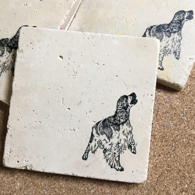 English Springer Spaniel Coasters ~ Coasters ~ Dog Coasters ~ Stone  Coasters ~ Housewarming Gift~ Pet Coasters ~ Pet Gift