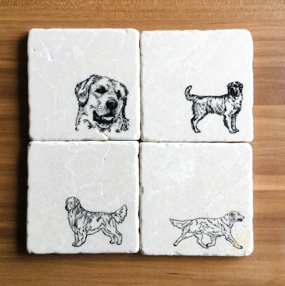 Details about  /Golden Retriever Coasters Dog Lover Gift Mom Marble Coasters Drink Coasters