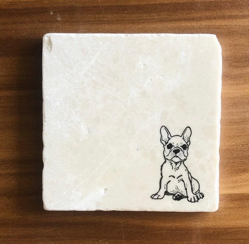 French Bulldog Coasters ~ French Bulldog Lovers  ~ Frenchie Dog Mom ~ French Bulldog Gift ~ Housewarming Gift ~ Frenchie Home Decor