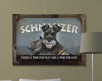 Schnauzer, Dog, METAL Sign, Optional Reclaimed BarnWood Frame, American Steel, Wall Decor, Wall Art, Vintage, FREE SHIPPING!
