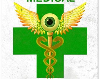 """Green Cross Medical Marijuana Dispensary Sign 12"""" X 12"""""""
