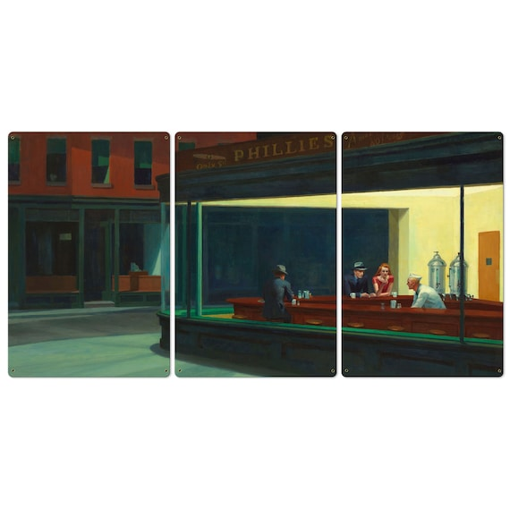 Building Repro Made in U.S.A Giclee Prints Nighthawks by Edward Hopper