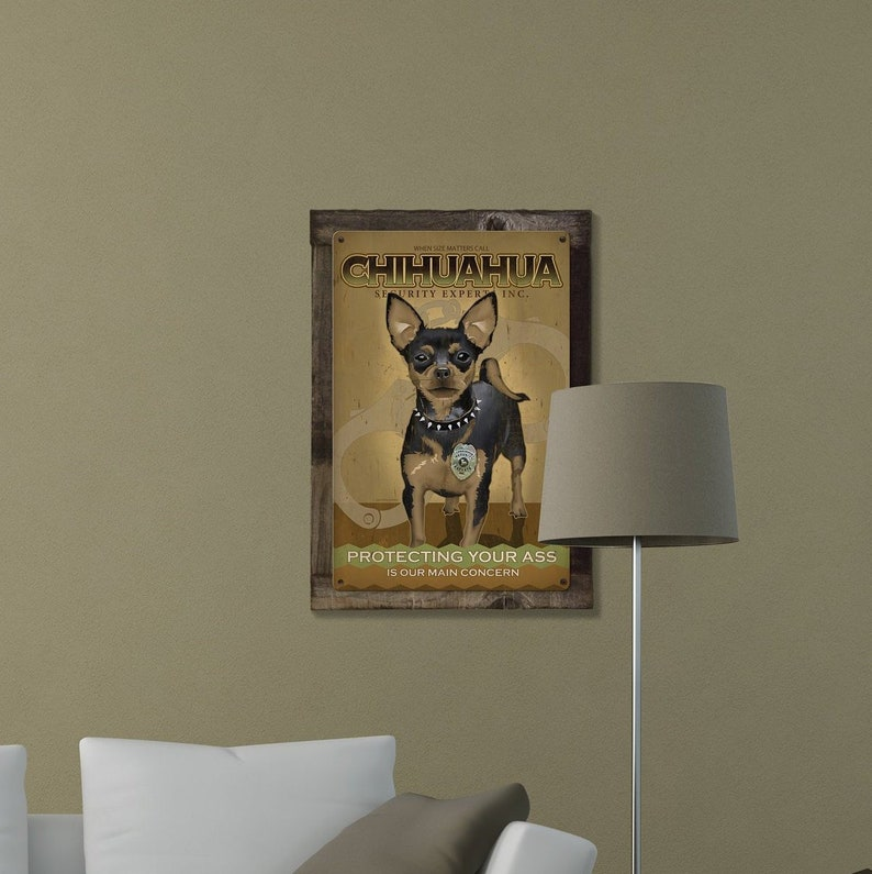 baaef71c6f740 Chihuahua, Dog, METAL Sign, Optional Reclaimed BarnWood Frame, American  Steel, Wall Decor, Wall Art, Vintage, FREE SHIPPING!