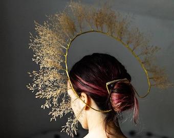 Halo golden crown big crown for golden bride Virgin Mary