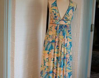 Vintage Flower Printed Maxi Dress by Corey Lynn Calter