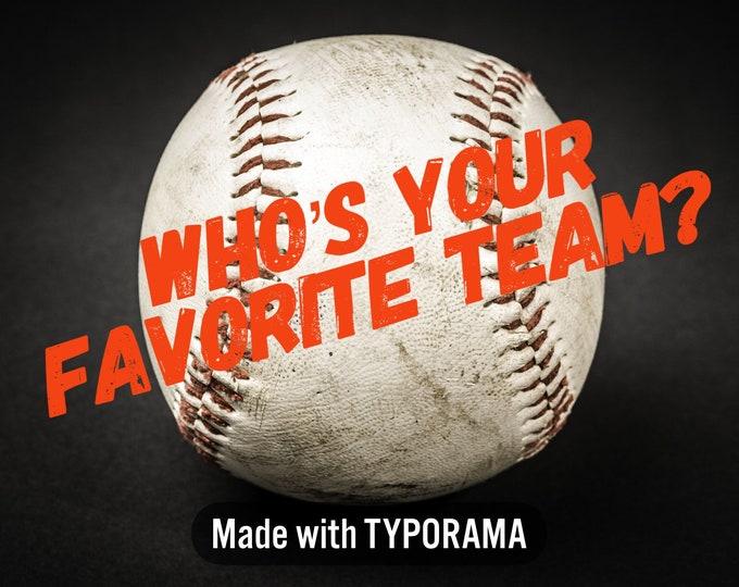 "Order your Fav Team - Designer 1"" Dog Collar   CupcakePups Dog Collars   Baseball"