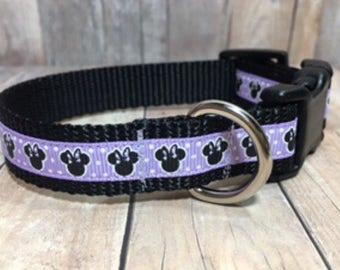 "The Minnie II {Light Purple} | Designer 3/4"" Width Dog Collar | CupcakePups Collars | Small/Medium Dog Collar"