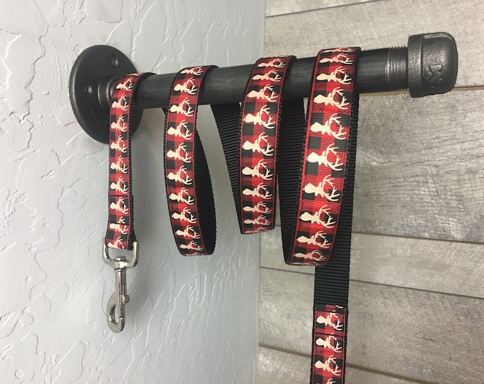 "On SALE | The Hunter Leash | Designer 1"" Width Leash - 6 Foot Lead 
