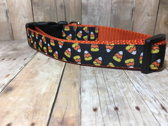 "The Candy Corn | Designer 1"" Width Dog Collar 