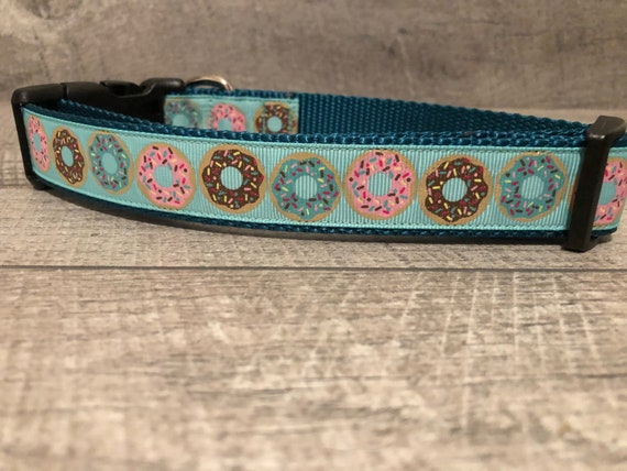 "The Florabel I & II | 1"" Sprinkle Donuts Dog Collar 
