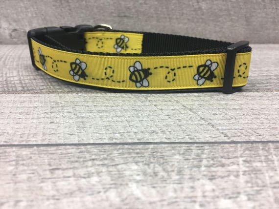 "The Bee | Designer 1"" Width Dog Collar 