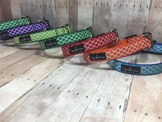 "The Watson | Designer 3/4"" Width Dog Collar | CupcakePups Collars |  Small/Medium Dog Collar"