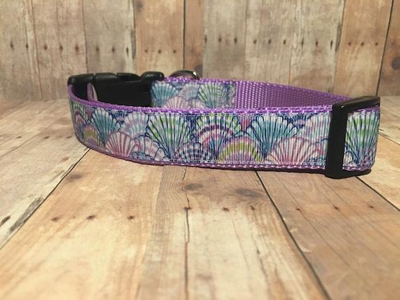 "The Shelly | Designer 1"" Width Dog Collar | CupcakePups Collars | Medium/Large Dog Collar"