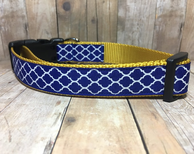 "The Royal Canine - Designer 1"" Width Dog Collar - CupcakePups Dog Collars"