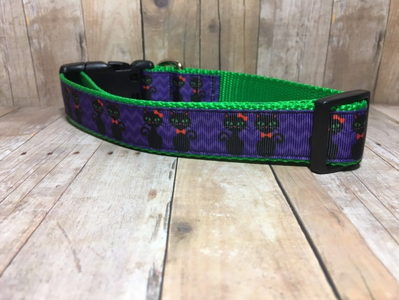 "The Black Cat | Designer 1"" Width Dog Collar 