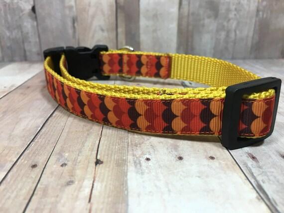 "The Spice | Designer 3/4"" Width Dog Collar | CupcakePups Collars | Small/Medium Dog Collar"