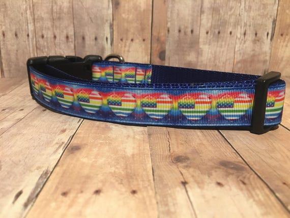 "The Pride | Designer 3/4"" and 1"" Width Dog Collar | CupcakePups Collars | Medium/Large Dog Collar"