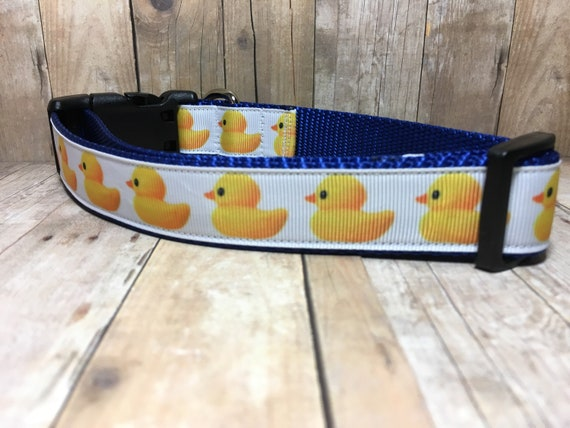 "The Duckie - Designer 1"" Width Dog Collar -  CupcakePups Dog Collars 