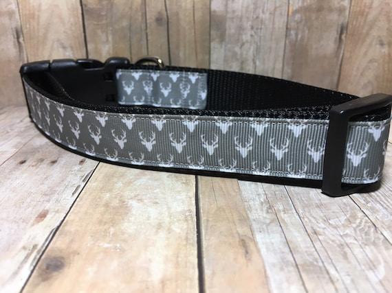 "The Baratheon | Designer 1"" Width Dog Collar | CupcakePups Collars | Christmas/Winter | Medium/Large Dog Collar"
