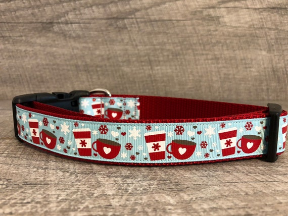 "The Christmas Cocoa | Designer 1"" Width Dog Collar 