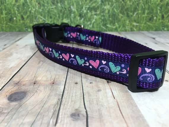 "The Violet II | Designer 3/4"" Width Dog Collar 