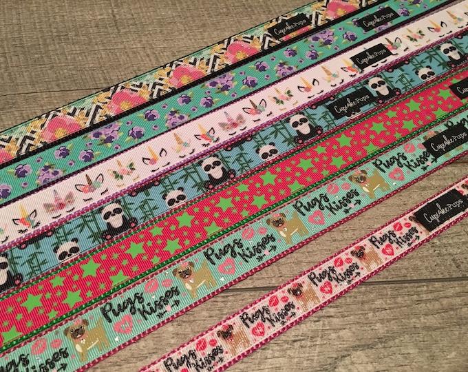 "Brand New Designs | Designer 1"" Width Dog Collar | CupcakePups Collars | Medium/Large Dog Collar | Fruit /Sweets"