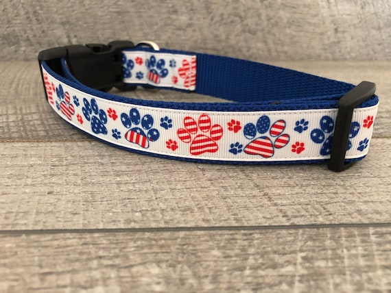 "The Patriot | Designer 1"" Width Dog Collar 