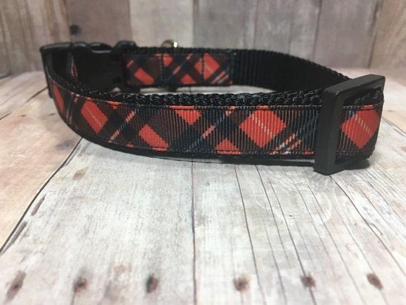 "The Oliver II | Designer 3/4"" Width Dog Collar | CupcakePups Collars | Christmas | Small/Medium Dog Collar"