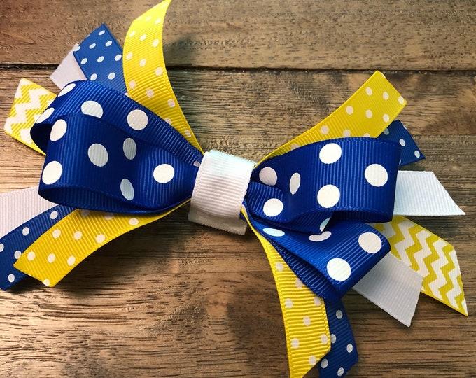 Blue & Yellow Ribbon Bows   CupcakePups   Canine Companions