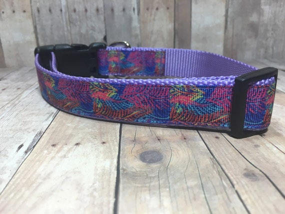 "The Feather | Designer 1"" Width Dog Collar 